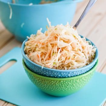 "Green Apple and Carrot Minute ""Sauerkraut"""