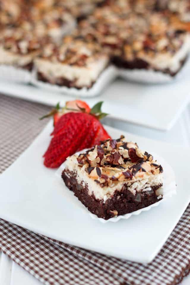 Coconut Magic Brownie Bars   by Sonia! The Healthy Foodie