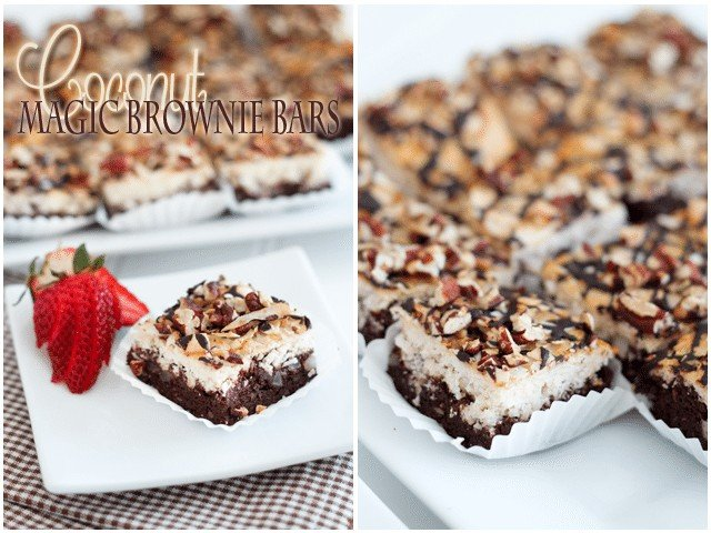 Coconut Magic Brownie Bars | by Sonia! The Healthy Foodie