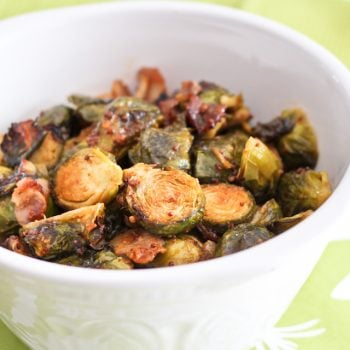 Oven Roasted Brussels Sprouts with Smokey Bacon