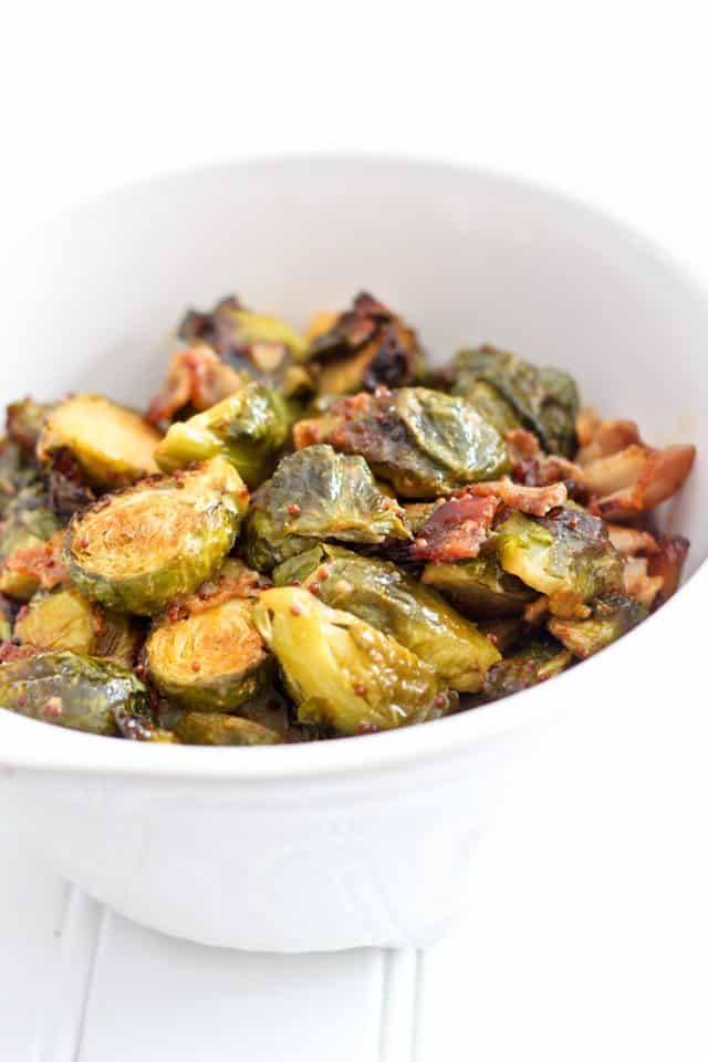 Oven Roasted Brussel Sprouts with Smokey Bacon | by Sonia! The Healthy Foodie
