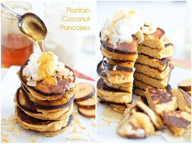 Paleo Coconut Plantain Pancakes | by Sonia! The Healthy Foodie