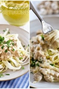 Creamy Chicken Zucchini Fettuccine | by Sonia! The Healthy Foodie