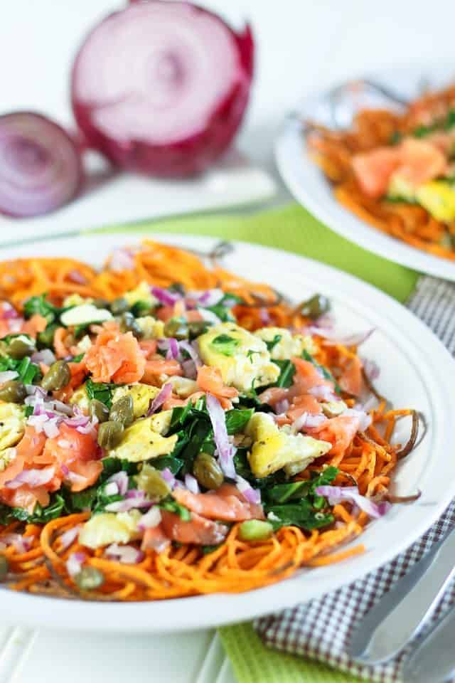 Smoked Salmon Breakfast Scramble | by Sonia! The Healthy Foodie