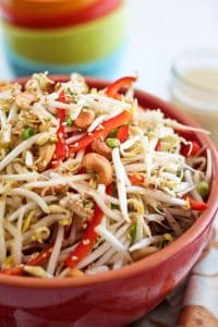 Light and refreshing, this tangy bean sprout salad would make a magnificent side to just about any grilled meat dish... perfect for picnics or barbecues!