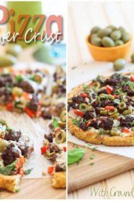 Cauliflower Crust Pizza | thehealthyfoodie.com