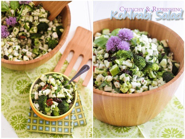 Crunchy and Refreshing Kohlrabi Salad | by Sonia! The Healthy Foodie