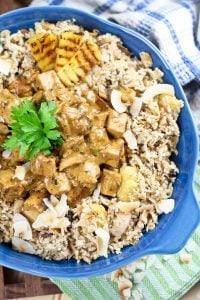 """Made with cauliflower, this """"rice"""" dish is so super easy to make and so versatile, it might very well become your favorite way of using leftover meat and veggies."""