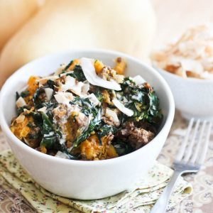 Butternut Squash, Kale & Ground Beef Breakfast Bowl
