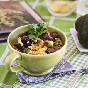 Ground Beef, Eggs and Avocado Breakfast Bowl [and Whole30ing on!]