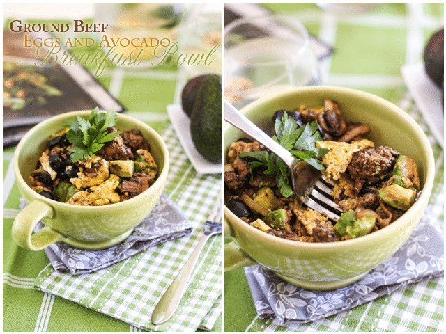 Beef and Avocado Breakfast Bowl | by Sonia! The Healthy Foodie