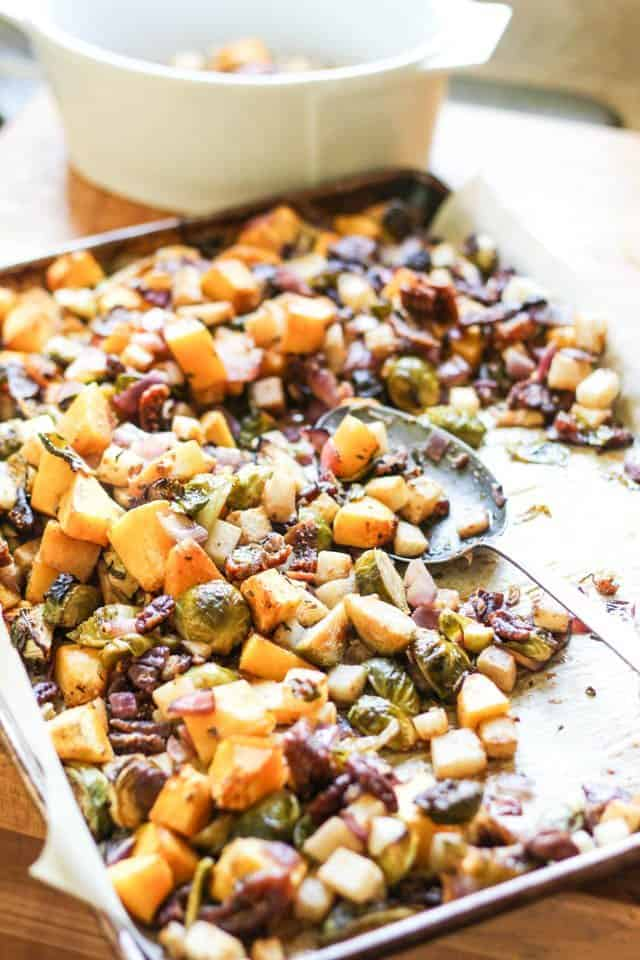 Butternut Squash Brussel Sprout Jicama Hash   by Sonia! The Healthy Foodie
