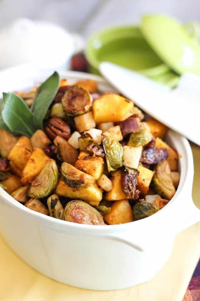 Butternut Squash Brussel Sprout Jicama Hash | by Sonia! The Healthy Foodie