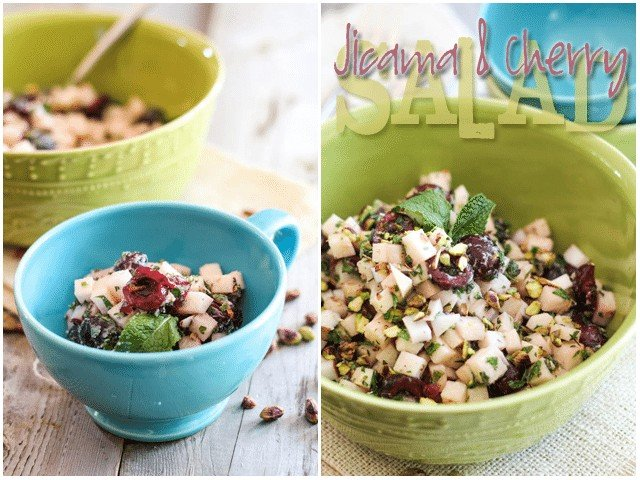 Jicama and Cherry Salad | by Sonia! The Healthy Foodie