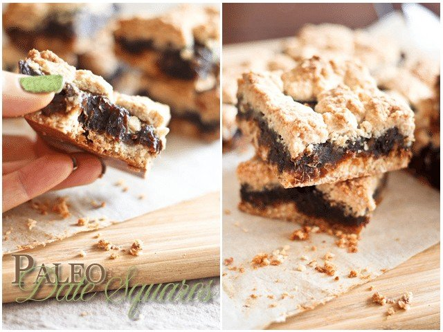 Paleo Date Squares | by Sonia! The Healthy Foodie