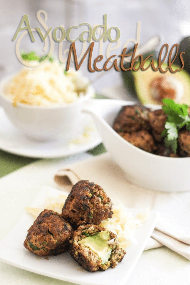 Avocado Stuffed Meatballs | by Sonia! The Healthy Foodie