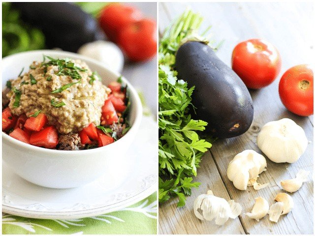 Ground Beef and Baba Ganouj Breakfast Bowl   by Sonia! The Healthy Foodie