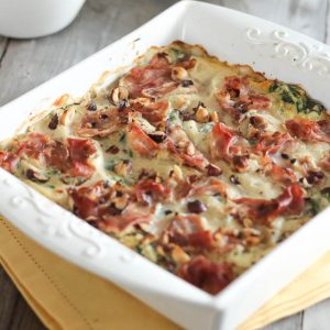 Egg Casserole with Rapini and Prosciutto