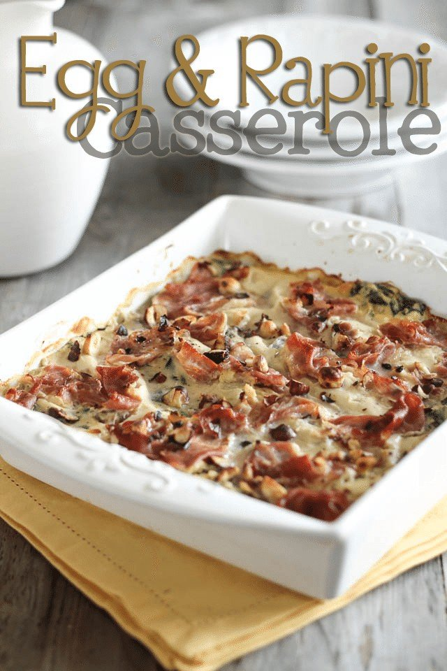 Egg Casserole with Rapini and Prosciutto | by Sonia! The Healthy Foodie