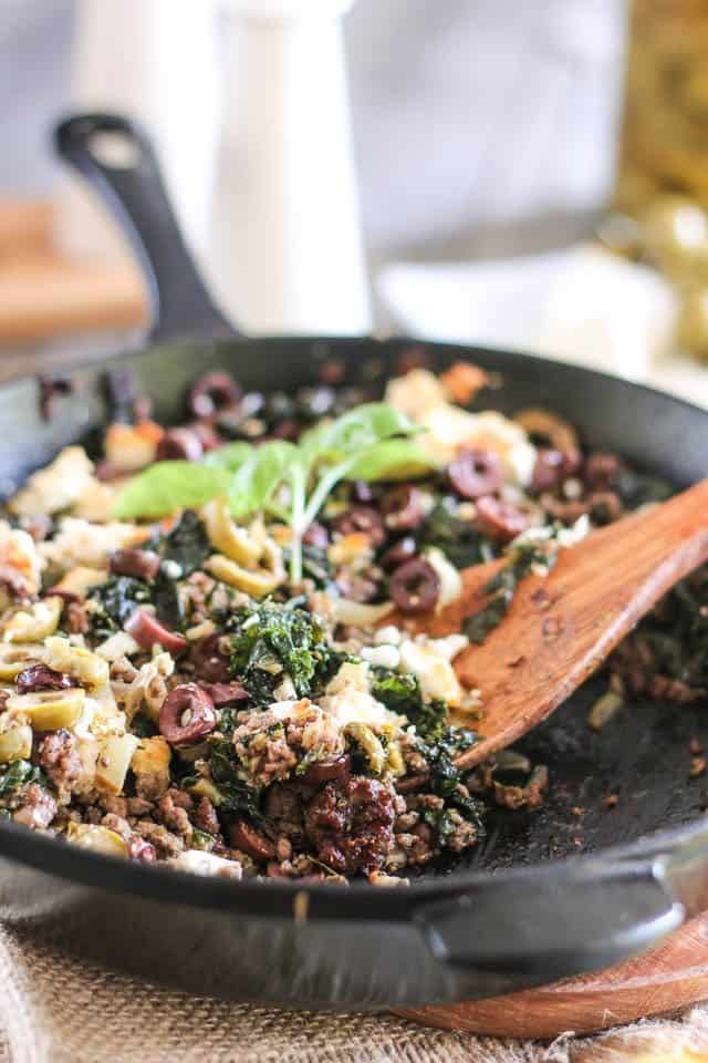 Greek Inspiration Ground Beef Skillet | by Sonia! The Healthy Foodie
