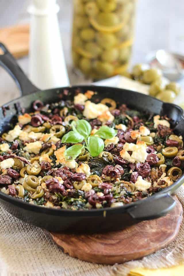 Greek Style Breakfast Skillet | by Sonia! The Healthy Foodie