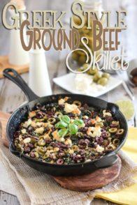 Greek Style Ground Beef Skillet   by Sonia! The Healthy Foodie