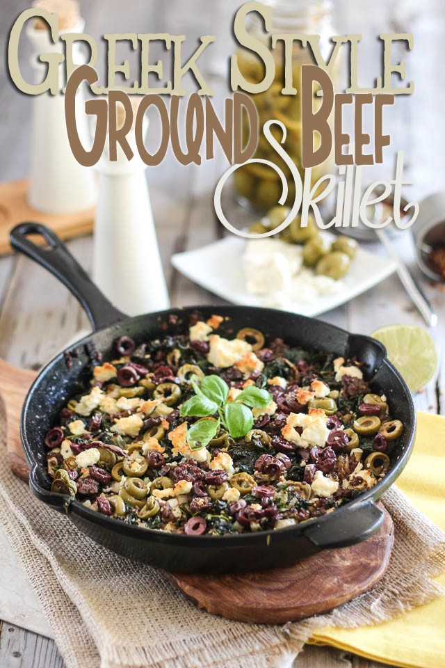 Greek Style Ground Beef Skillet