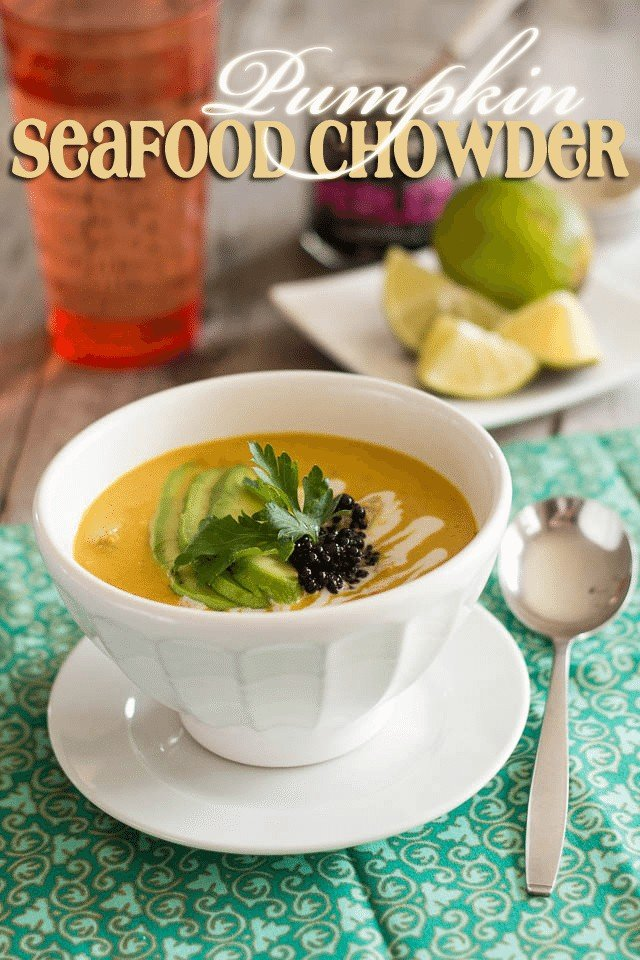 Pumpkin Seafood Chowder | by Sonia! The Healthy Foodie
