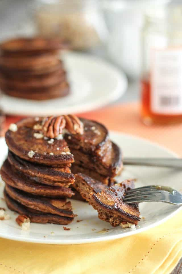 Spiced Pumpkin Pancakes | by Sonia! The Healthy Foodie
