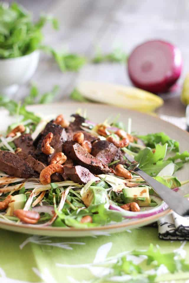 Warm Liver and Cashew Salad