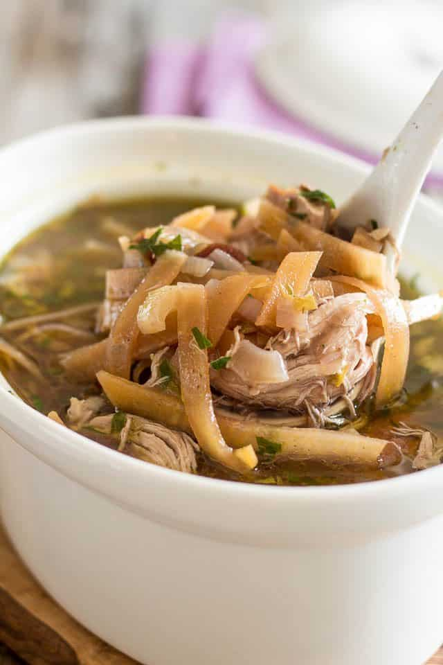 Chicken Nonoodle Soup   by Sonia! The Healthy Foodie