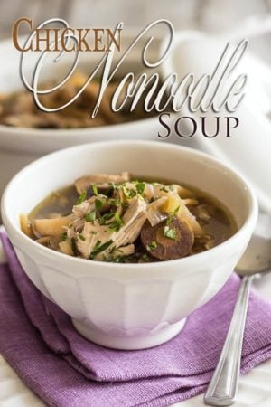 All the comfort of a piping hot bowl of Chicken Noodle Soup without any of the discomfort caused by the noodles...