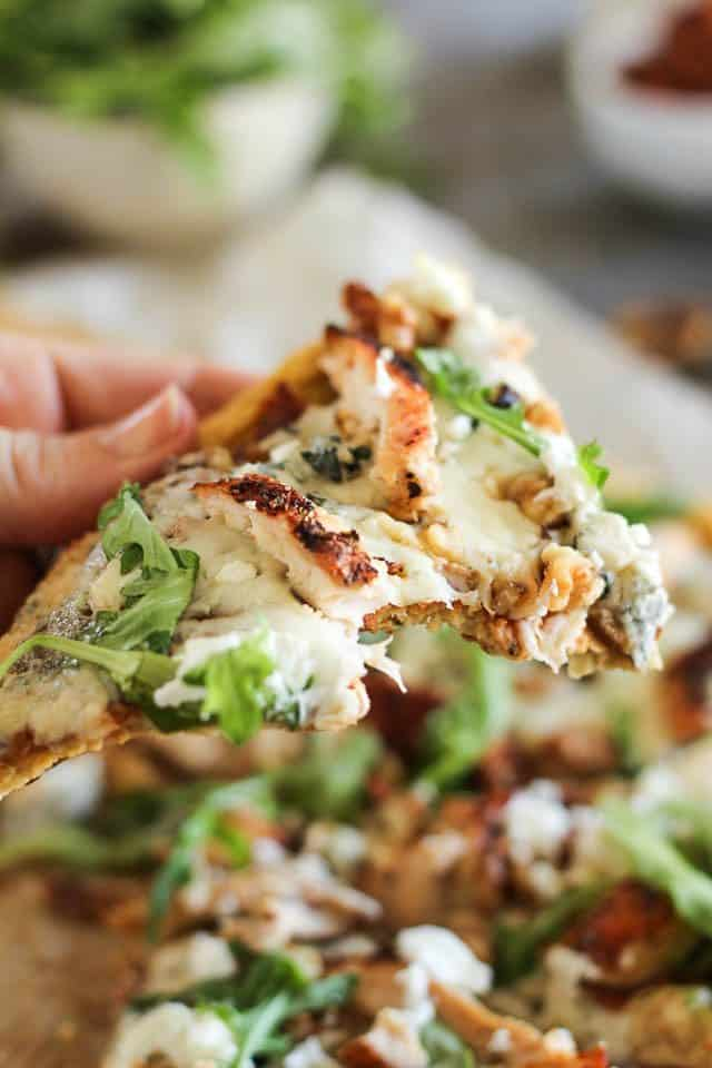 Grilled Chicken and 3 Cheeses Pizza | by Sonia! The Healthy Foodie