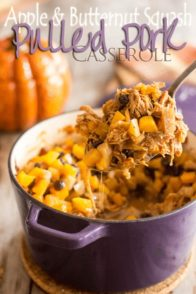 Apple Squash Pulled Pork Casserole | by Sonia! The Healthy Foodie