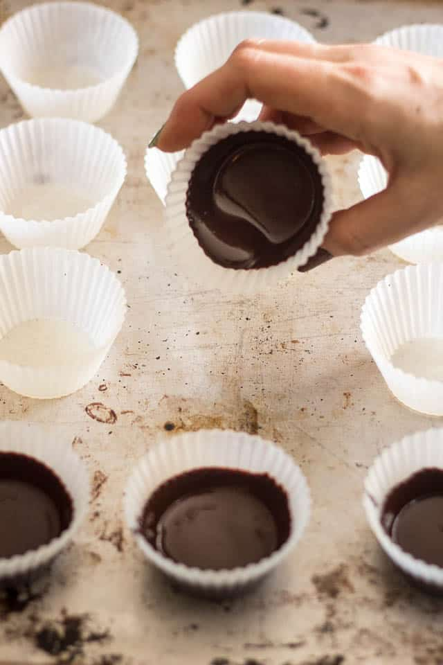 Bacon Banana Nut Butter Chocolate Cups   by Sonia! The Healthy Foodie