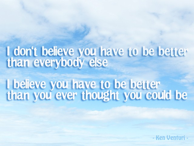 Be better than you ever thought you could be | by Sonia! The Healthy Foodie