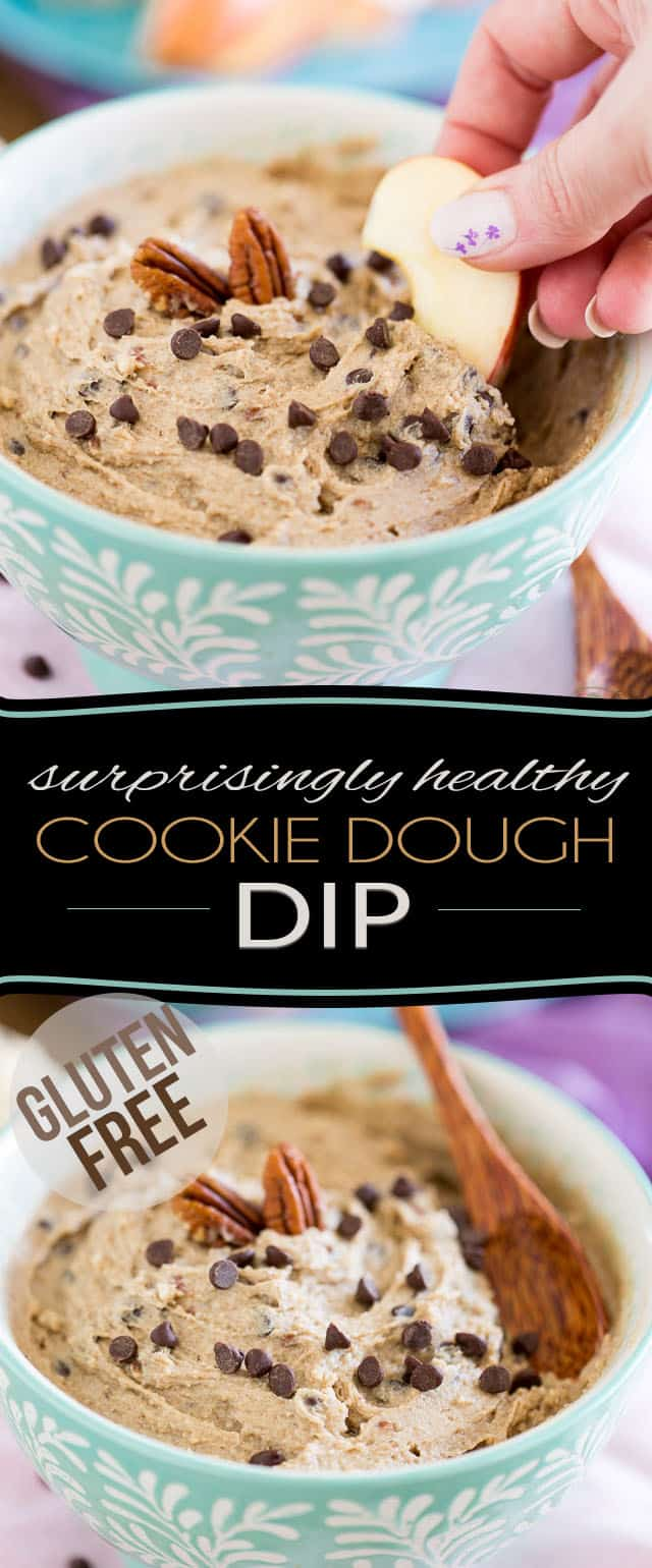 Made with wholesome ingredients like chestnuts, cashews, dates, coconut, honey and cacao butter, this surprisingly healthy Cookie Dough Dip tastes so good, no one will ever guess that it's this healthy...