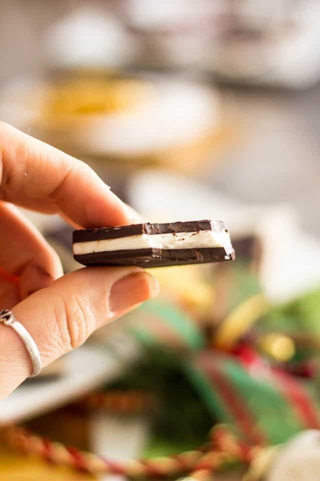 Paleo Dark Chocolate Mint Thins   by Sonia! The Healthy Foodie
