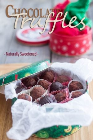 These creamy and delicious chocolate truffles are made with nothing but natural ingredients yet, they are everything as decadent as the finest of chocolates