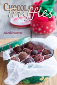 Paleo Dark Chocolate Truffles   by Sonia! The Healthy Foodie
