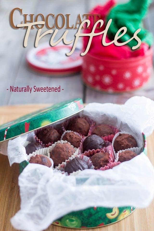 Paleo Dark Chocolate Truffles | by Sonia! The Healthy Foodie