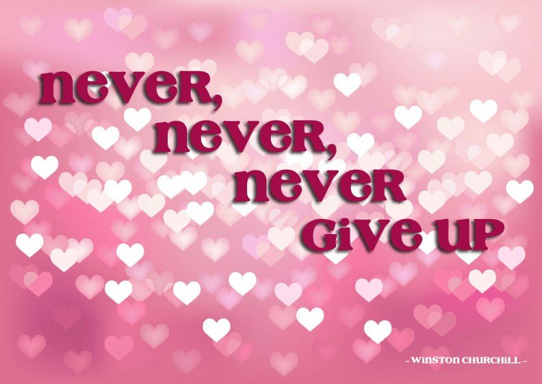 Never Give Up | by Sonia! The Healthy Foodie