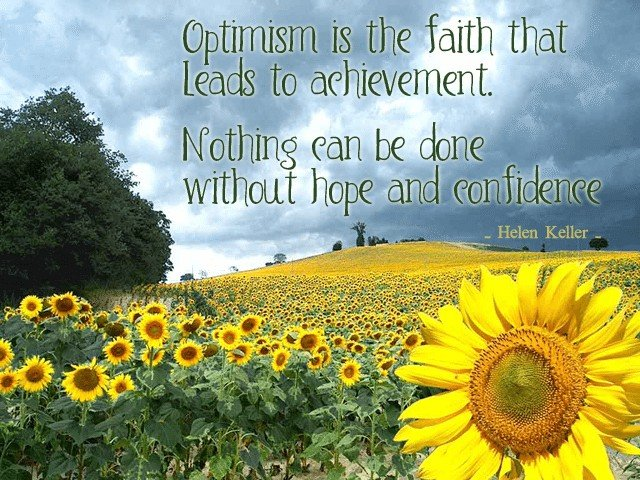 Optimism Leads to Achievement | by Sonia! The Healthy Foodie