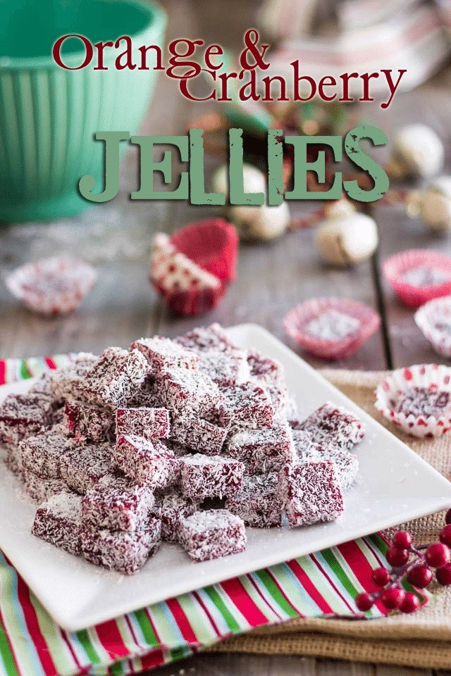 Orange Cranberry Jellies | by Sonia! The Healthy Foodie