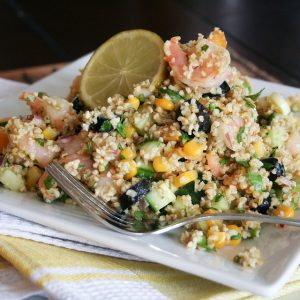 Cold Bulgur Wheat and Shrimp Salad