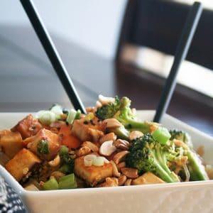Spicy Peanut Tofu Pad Thai