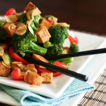 Broccoli, Tofu and Almond Stirfry