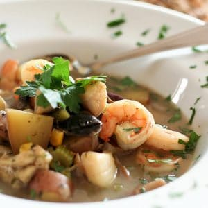 Fish Soup (that you can actually eat with a spoon…)