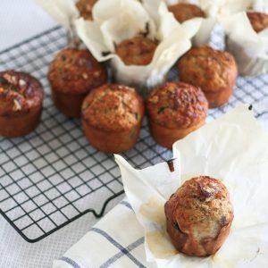 Blueberry Banana Buckwheat Muffins