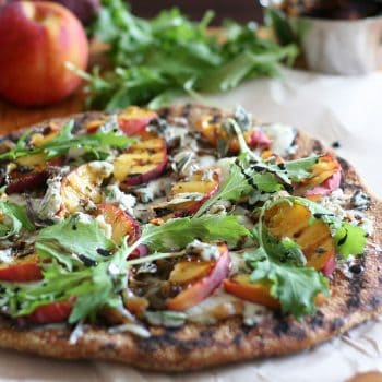 Rustic Grilled Peaches Pizza – or Murphy's Pizza!